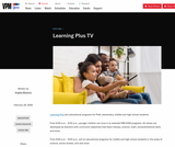 Learning Plus TV on Virginia Public Media Daily Schedules