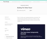 Teach Design : Building The Tallest Tower