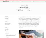 Teach Design: Build to Think