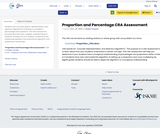 Proportion and Percentage CRA Assessment