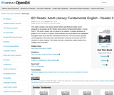 BC Reads: Adult Literacy Fundamental English - Reader 3