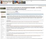 Construisez la pyramide du dÃveloppement durable! - An Online Game on Sustainable Development