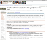 Alerte Terre!: An Interactive Lecture  Activity  on  Environmental Topics