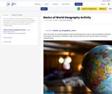 Basics of World Geography Activity