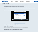 Free Resources and Training for Virtual Learning – Virtual Virginia