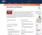 Narratives and Names