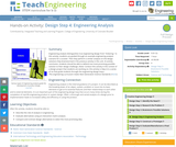 Design Step 4: Engineering Analysis