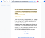 HCS Online Teaching Methodology Course-Outline