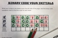 The Name Jar- Binary Code Your Initials: Introduction to Binary Code