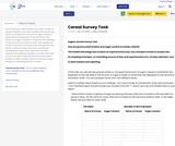 Cereal Survey Task