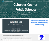 Culpeper County Return to Learning