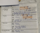 Personal Assignment Sheet for Clipboards