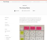 Teach Design: CoCap Matrix